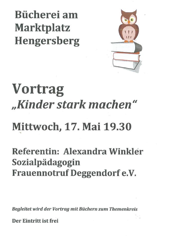 Vortrag Bücherei Hengersberg